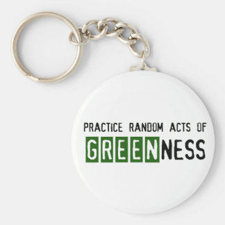 Earth Day - Be Green Keychain