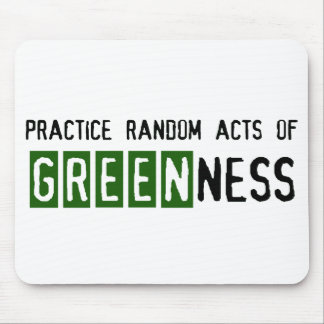 Earth Day - Be Green Mouse Pad