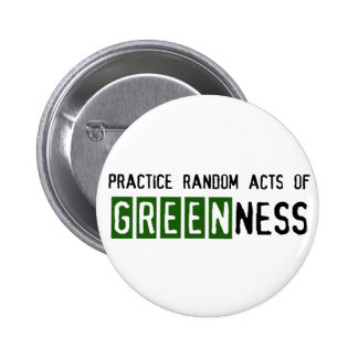 Earth Day - Be Green Pinback Button
