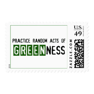 Earth Day - Be Green Postage Stamps