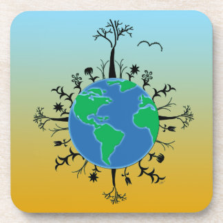Earth Day Beverage Coaster