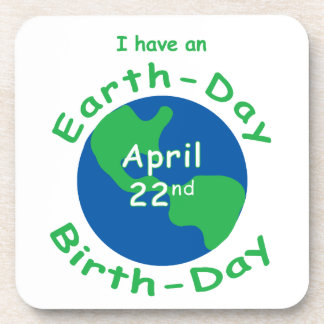 Earth Day Birthday Beverage Coaster