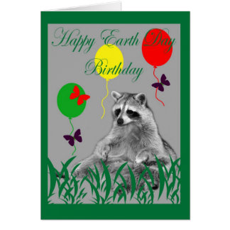 earth day birthday card