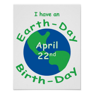 Earth Day Birthday Posters