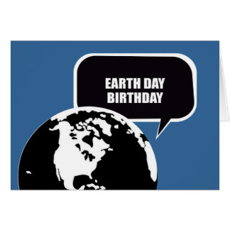 EARTH DAY BIRTHDAY STATIONERY NOTE CARD