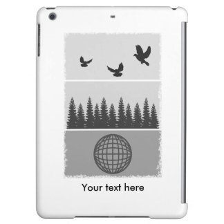 Earth Day Black And White iPad Air Covers