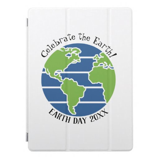 Earth Day Blue Green Globe Map Planet iPad Pro Cover