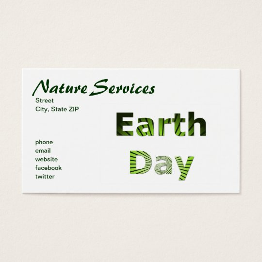 Earth Day Business Card