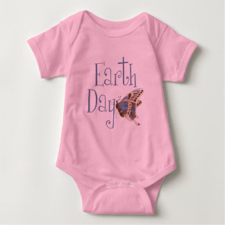 Earth Day Butterfly Baby Baby Bodysuit
