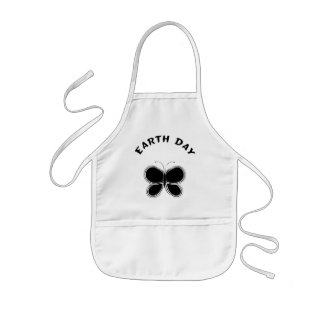 Earth Day Butterfly Kids' Apron