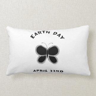 Earth Day Butterfly Lumbar Pillow