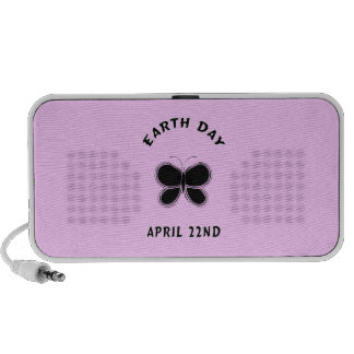 Earth Day Butterfly PC Speakers