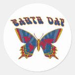 Earth Day Butterfly Sticker