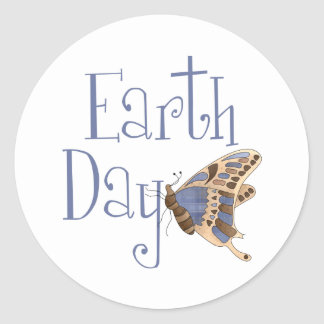 Earth Day Butterfly Stickers