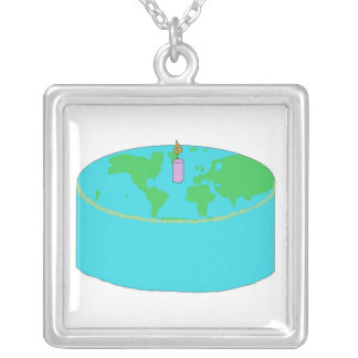 Earth Day cake necklace
