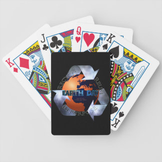 Earth Day Change The World Bicycle Playing Cards
