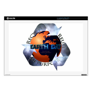 """Earth Day Change The World Decal For 17"""" Laptop"""
