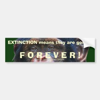 EARTH DAY CHIMPANZEE Extinction Bumper Sticker II Car Bumper Sticker