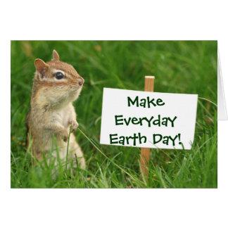 Earth Day Chipmunk Card