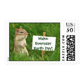 Earth Day Chipmunk Postage