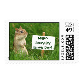 Earth Day Chipmunk Postage