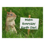Earth Day Chipmunk Poster