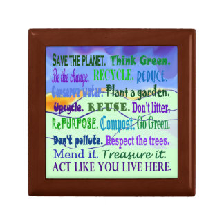 earth day collage gift box