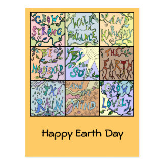 earth day collage postcard
