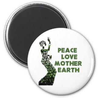 Earth Day Dancer 2 Inch Round Magnet