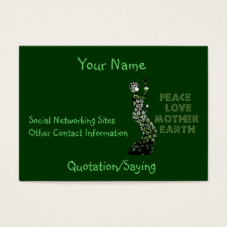 Earth Day Dancer Business Card