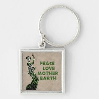 Earth Day Dancer Keychain