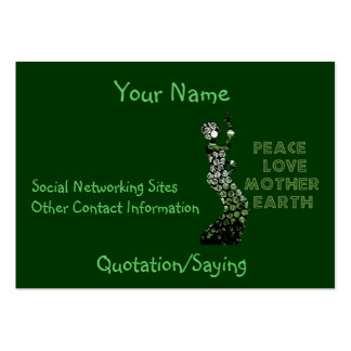 Earth Day Dancer Large Business Card