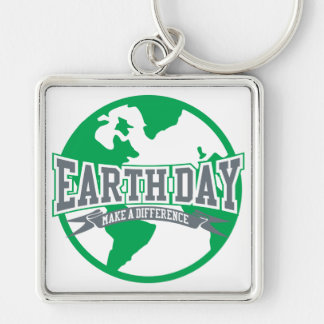 Earth Day Difference Keychain
