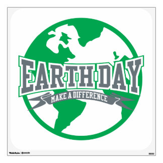 Earth Day Difference Wall Sticker