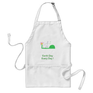Earth Day Dog Digging Adult Apron