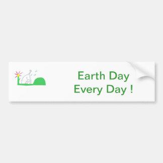 Earth Day Dog Digging Bumper Sticker