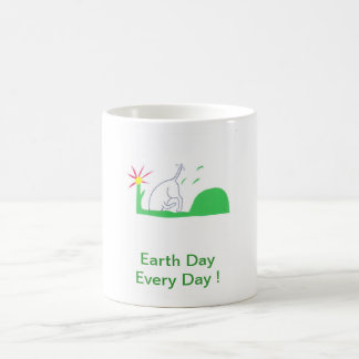 Earth Day Dog Digging Coffee Mug