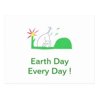 Earth Day Dog Digging Postcard