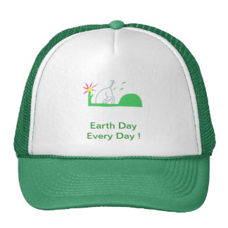 Earth Day Dog Digging Trucker Hat
