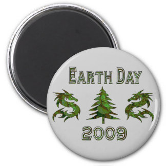 Earth Day Dragons 2009 2 Inch Round Magnet