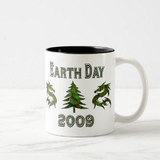 Earth Day Dragons 2009 Two-Tone Coffee Mug