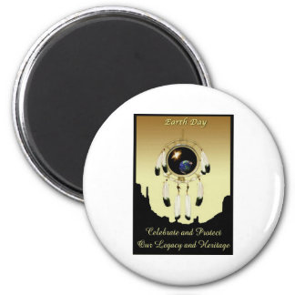 Earth Day Dreamcatcher POSTER 2 Inch Round Magnet