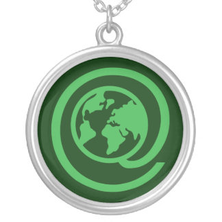 Earth Day, @earth Round Pendant Necklace