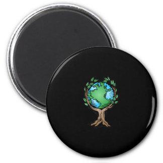 Earth Day Earth Tree Fridge Magnets