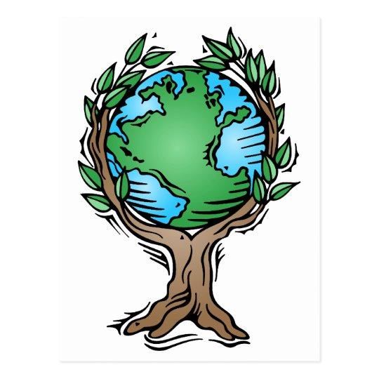 Earth Day Earth Tree Postcard