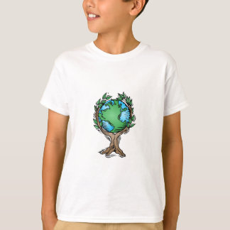 Earth Day Earth Tree T-Shirt