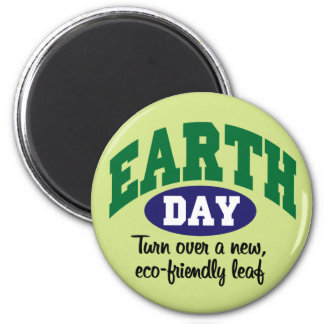 Earth Day Eco-Friendly 2 Inch Round Magnet