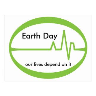 Earth  Day EKG Postcard