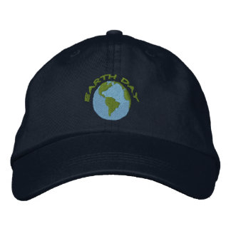 Earth Day Embroidered Baseball Hat