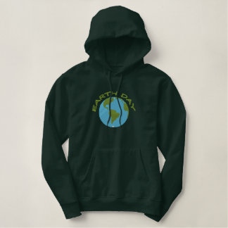 Earth Day Embroidered Hoodie
